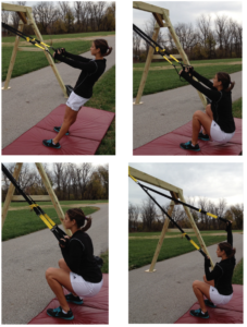 TRX Bottom Up OH Squat