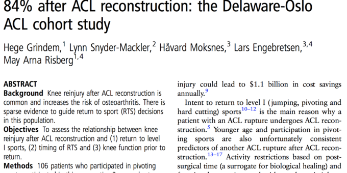 When to Return to Play After an ACL Injury