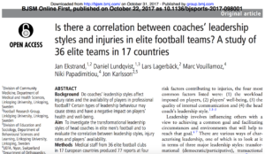 Coaching Style and Injuries